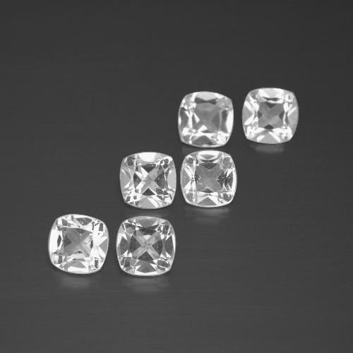 White Topaz Gem - 0.5ct Cushion-Cut (ID: 388263)