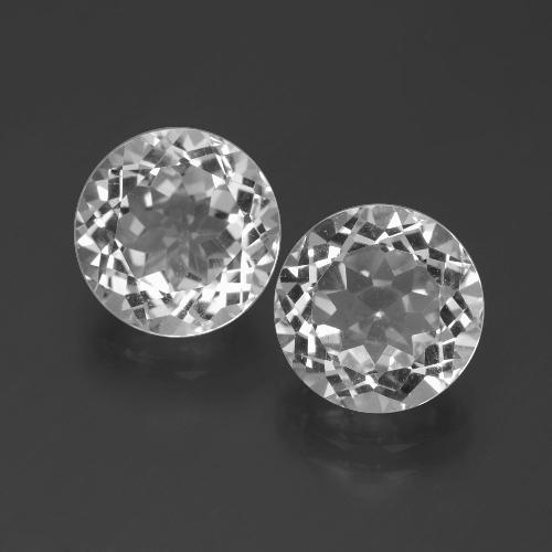 White Topaz Gem - 3.6ct Round Facet (ID: 388886)