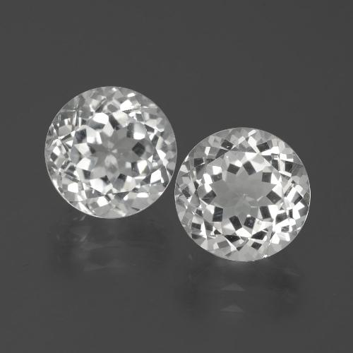 Blanco Topacio Gema - 3.4ct Faceta Redonda (ID: 389038)