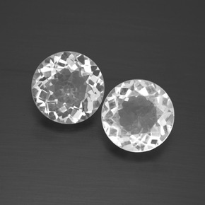 White Topaz Gem - 2.1ct Round Facet (ID: 389650)