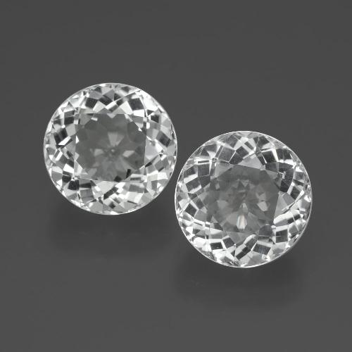 Clear White Topaz Gem - 3.6ct Round Facet (ID: 389727)