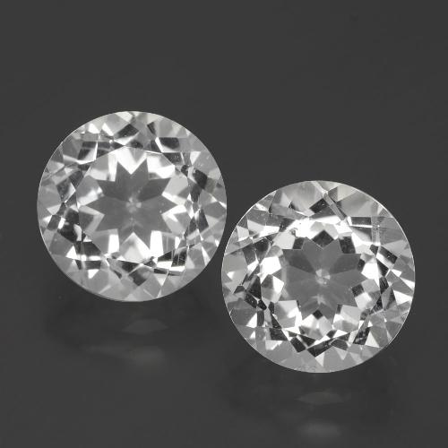 Clear White Topaz Gem - 3.2ct Round Facet (ID: 390772)