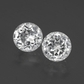 Clear White Topaz Gem - 2.5ct Round Facet (ID: 396398)