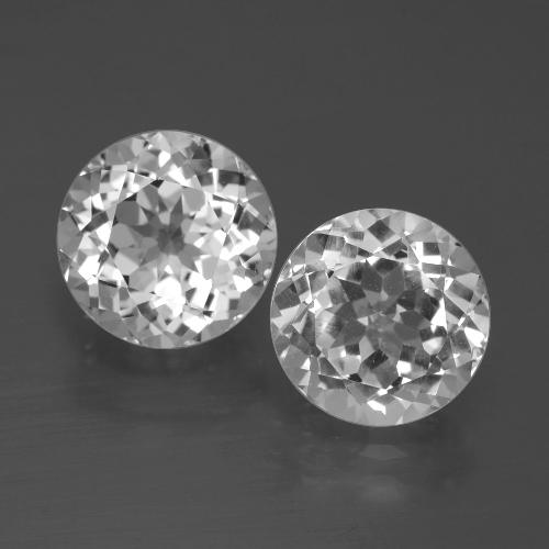 Clear White Topaz Gem - 3.3ct Round Facet (ID: 396526)