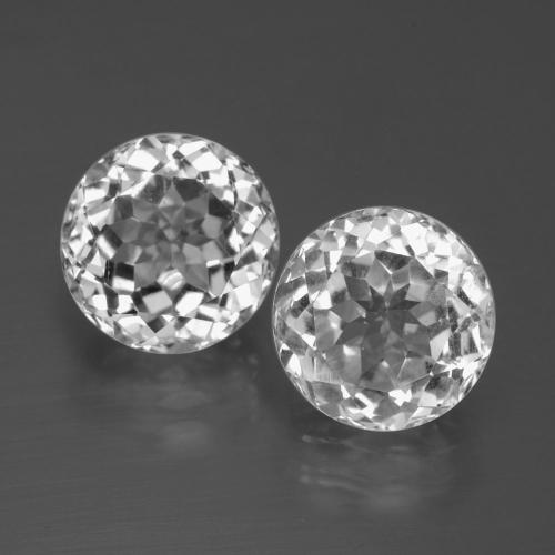 Clear White Topaz Gem - 3.9ct Round Facet (ID: 396528)