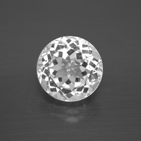 thumb image of 4.7ct Round Facet White Topaz (ID: 396718)