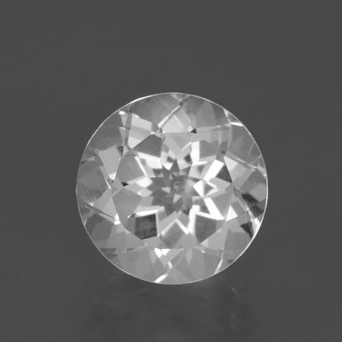 Clear White Topacio Gema - 3.3ct Faceta Redonda (ID: 396808)