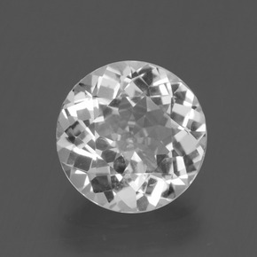 Blanco Topacio Gema - 2.9ct Faceta Redonda (ID: 396944)