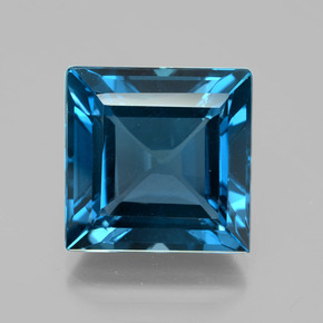 Blue Topaz 24 2 Carat Square From Brazil Gemstone