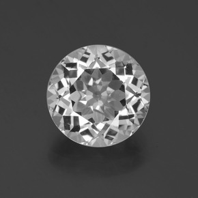Clear White Topacio Gema - 4.8ct Faceta Redonda (ID: 397178)