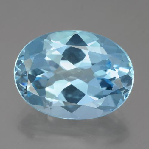 Swiss Blue Topaz Gem - 21.3ct Oval Facet (ID: 399017)