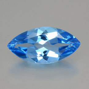 4.4ct Marquise Facet Dark Blue Topaz Gem (ID: 399385)