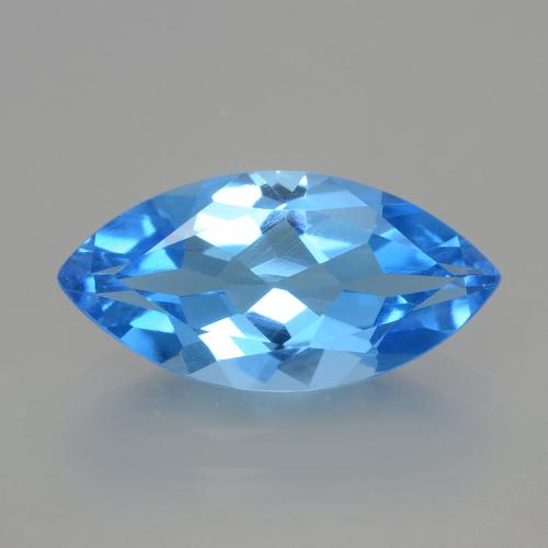 Deep Baby Blue Topaze gemme - 4.3ct Marquise facette (ID: 399388)