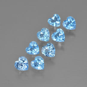 Swiss Blue Topaz Gem - 0.3ct Heart Facet (ID: 399487)