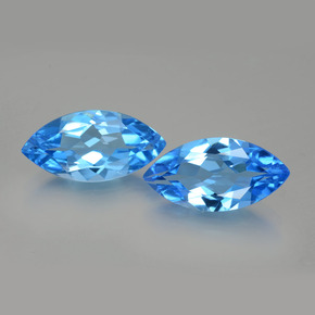 Swiss Blue Topaz Gem - 4.3ct Marquise Facet (ID: 399556)