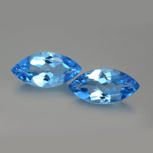 Swiss Blue Topaz Gem - 4.3ct Marquise Facet (ID: 399560)