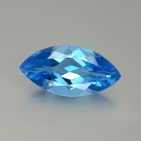 Swiss Blue Topaz Gem - 4.7ct Marquise Facet (ID: 399566)