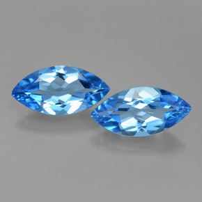 Swiss Blue Topaz Gem - 4ct Marquise Facet (ID: 399576)