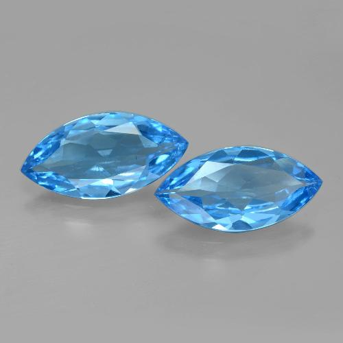 Swiss Blue Topaz Gem - 3.6ct Marquise Facet (ID: 399608)