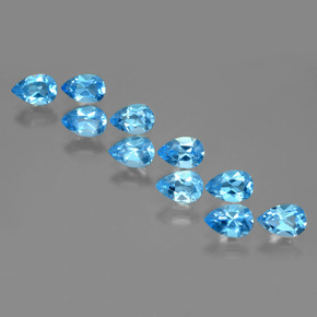 Swiss Blue Topaz Gem - 0.5ct Pear Facet (ID: 399675)