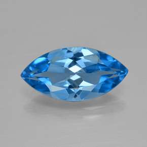 4.5ct Marquise Facet Dark Blue Topaz Gem (ID: 399693)