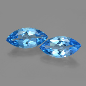 4.3ct Marquise Facet Dark Blue Topaz Gem (ID: 399745)