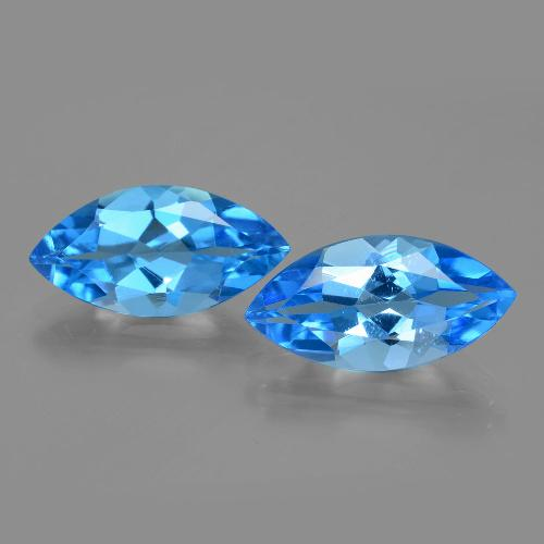 Swiss Blue Topaz Gem - 4.1ct Marquise Facet (ID: 399748)