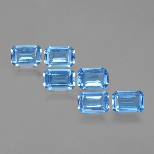 Swiss Blue Topaz Gem - 0.6ct Octagon Facet (ID: 399763)