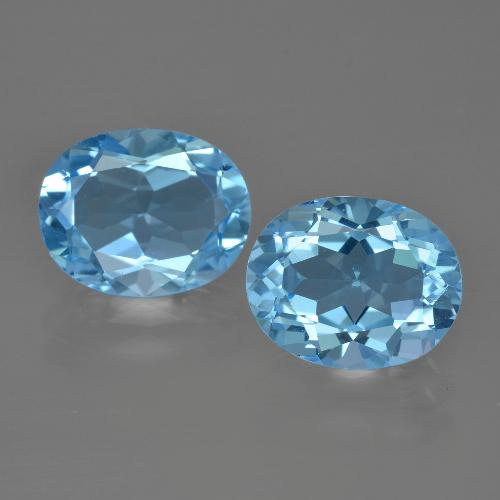 Light Blue Topaz Gem - 3ct Oval Facet (ID: 401566)