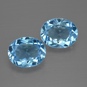 Swiss Blue Topaz Gem - 3.1ct Oval Facet (ID: 401569)