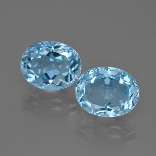 Swiss Blue Topaz Gem - 3.5ct Oval Facet (ID: 401638)
