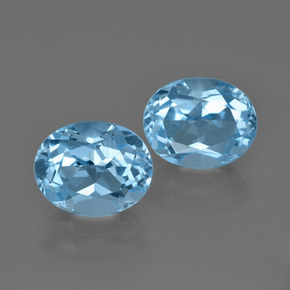 Swiss Blue Topaz Gem - 3.9ct Oval Facet (ID: 401639)