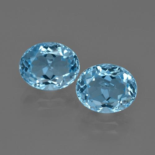 Swiss Blue Topaz Gem - 3.2ct Oval Facet (ID: 401640)
