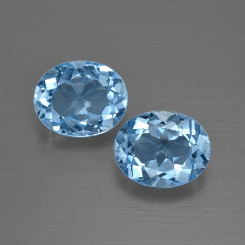 Deep Swiss Blue Topaz Gem - 3.1ct Oval Facet (ID: 401644)