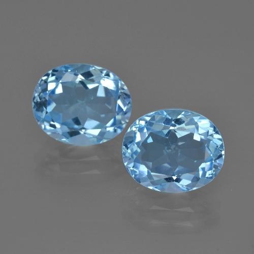 Deep Swiss Blue Topaz Gem - 3.3ct Oval Facet (ID: 401646)