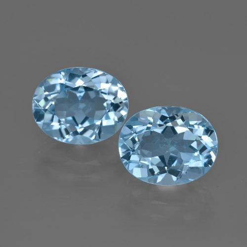 Swiss Blue Topaz Gem - 3.5ct Oval Facet (ID: 401740)