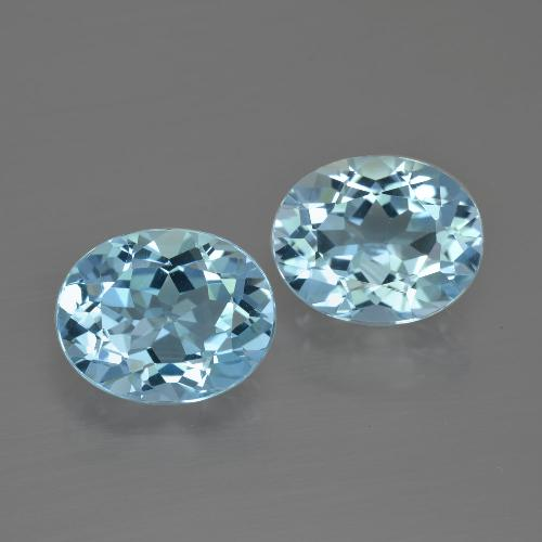 Baby Blue Topaz Gem - 3.2ct Oval Facet (ID: 401837)