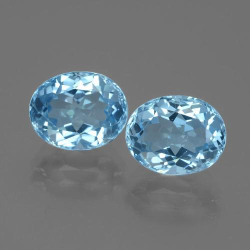 Swiss Blue Topaz Gem - 3.4ct Oval Facet (ID: 401898)