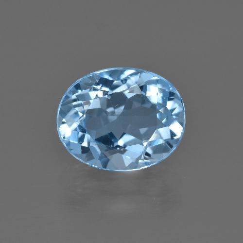Swiss Blue Topaz Gem - 3.3ct Oval Facet (ID: 401951)