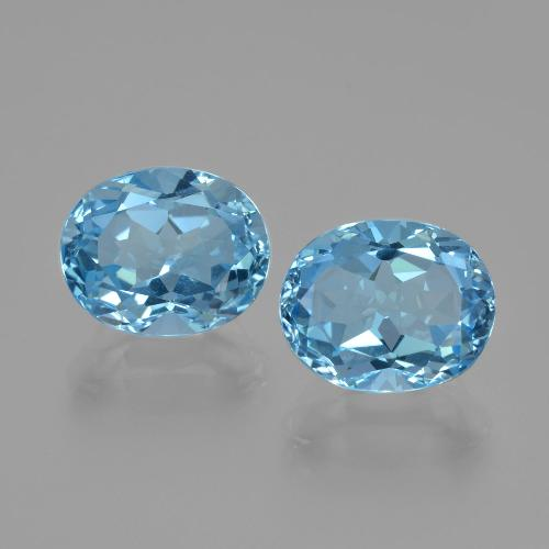 Swiss Blue Topaz Gem - 3.1ct Oval Facet (ID: 402352)