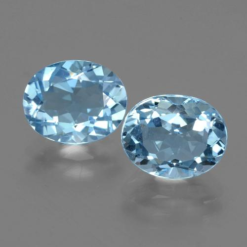 Swiss Blue Topaz Gem - 3.1ct Oval Facet (ID: 402584)