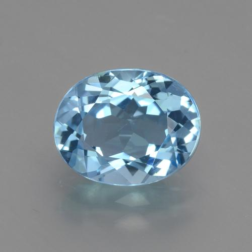 Swiss Blue Topaz Gem - 3.1ct Oval Facet (ID: 402648)