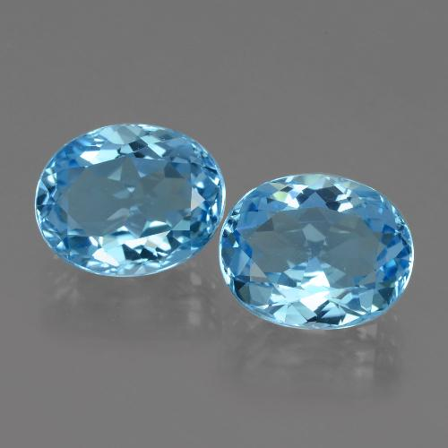 Swiss Blue Topaz Gem - 3.6ct Oval Facet (ID: 404122)