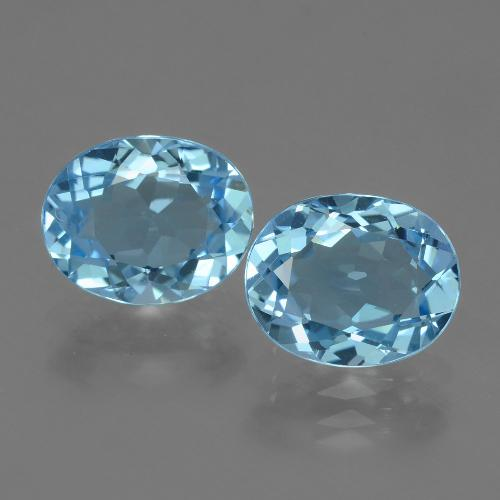Swiss Blue Topaz Gem - 3.2ct Oval Facet (ID: 404124)