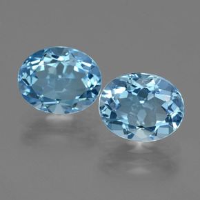 Swiss Blue Topaz Gem - 3.1ct Oval Facet (ID: 404206)