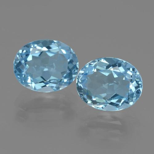 Swiss Blue Topaz Gem - 3.2ct Oval Facet (ID: 404210)