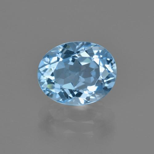 Swiss Blue Topaz Gem - 3.3ct Oval Facet (ID: 404244)