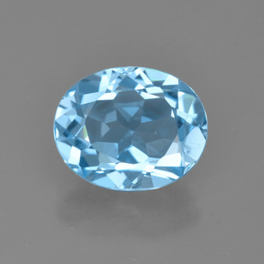 Sky Blue Topaz Gem - 3.3ct Oval Facet (ID: 404409)