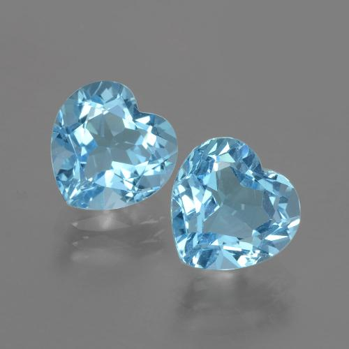 Swiss Blue Topaz Gem - 3.3ct Heart Facet (ID: 404474)