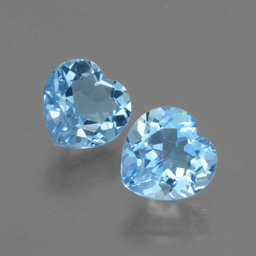 Swiss Blue Topaz Gem - 2.9ct Heart Facet (ID: 404476)